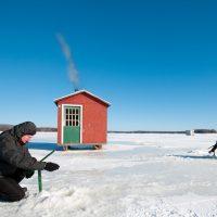 Pêche sur  la glace pêche blanche Montréal