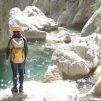 La descente de canyoning