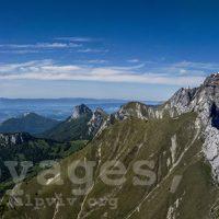 Au sud-est du lac d'Annecy : les grands sommets